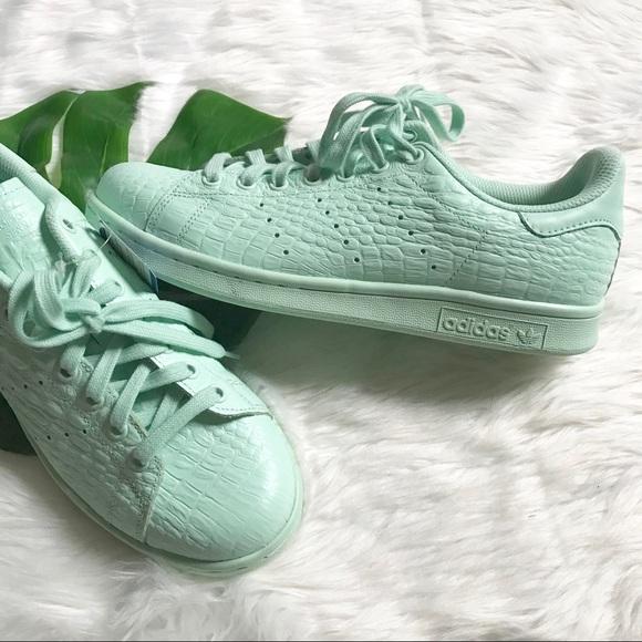 super popular a4eaf 6f6ea NWT Adidas Mint Snake Croc Stan Smith Sneakers NWT